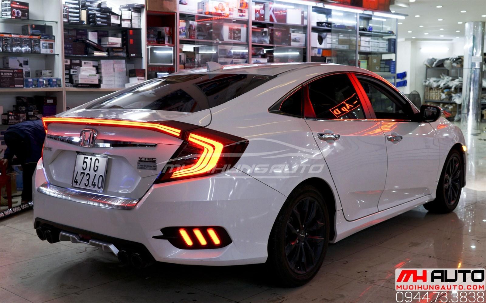độ đèn Led cốp sau cho xe Honda Civic 2