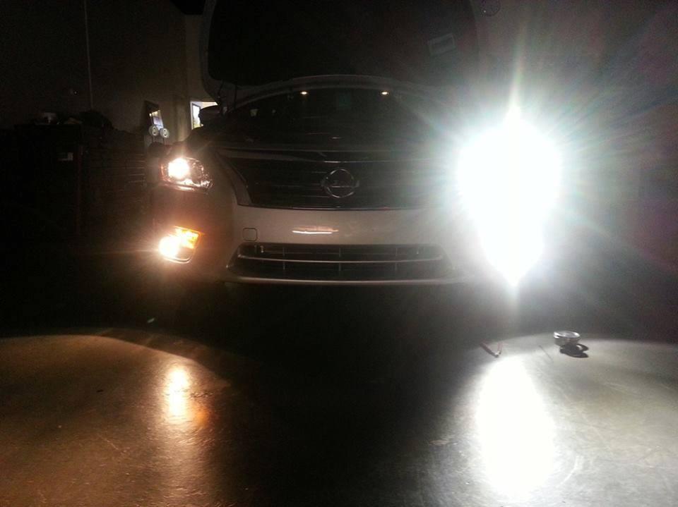 độ bóng đèn pha cho xe ô tô siêu sáng