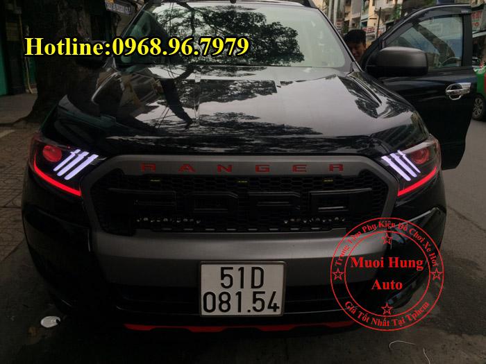 Độ đèn cho xe ford ranger 2017