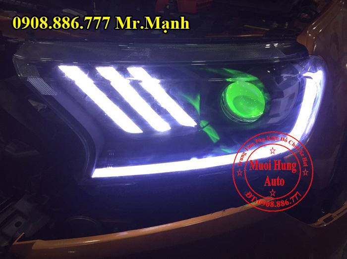 Độ đèn xe ô tô ford ranger 2017