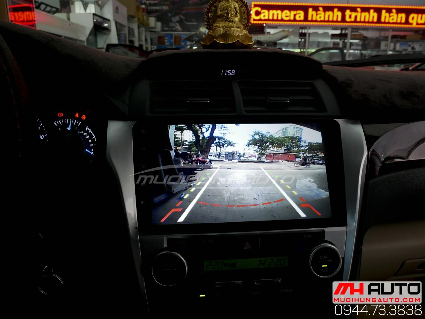 Gắn màn hình DVD Android Camry chính hãng Hàn Quốc