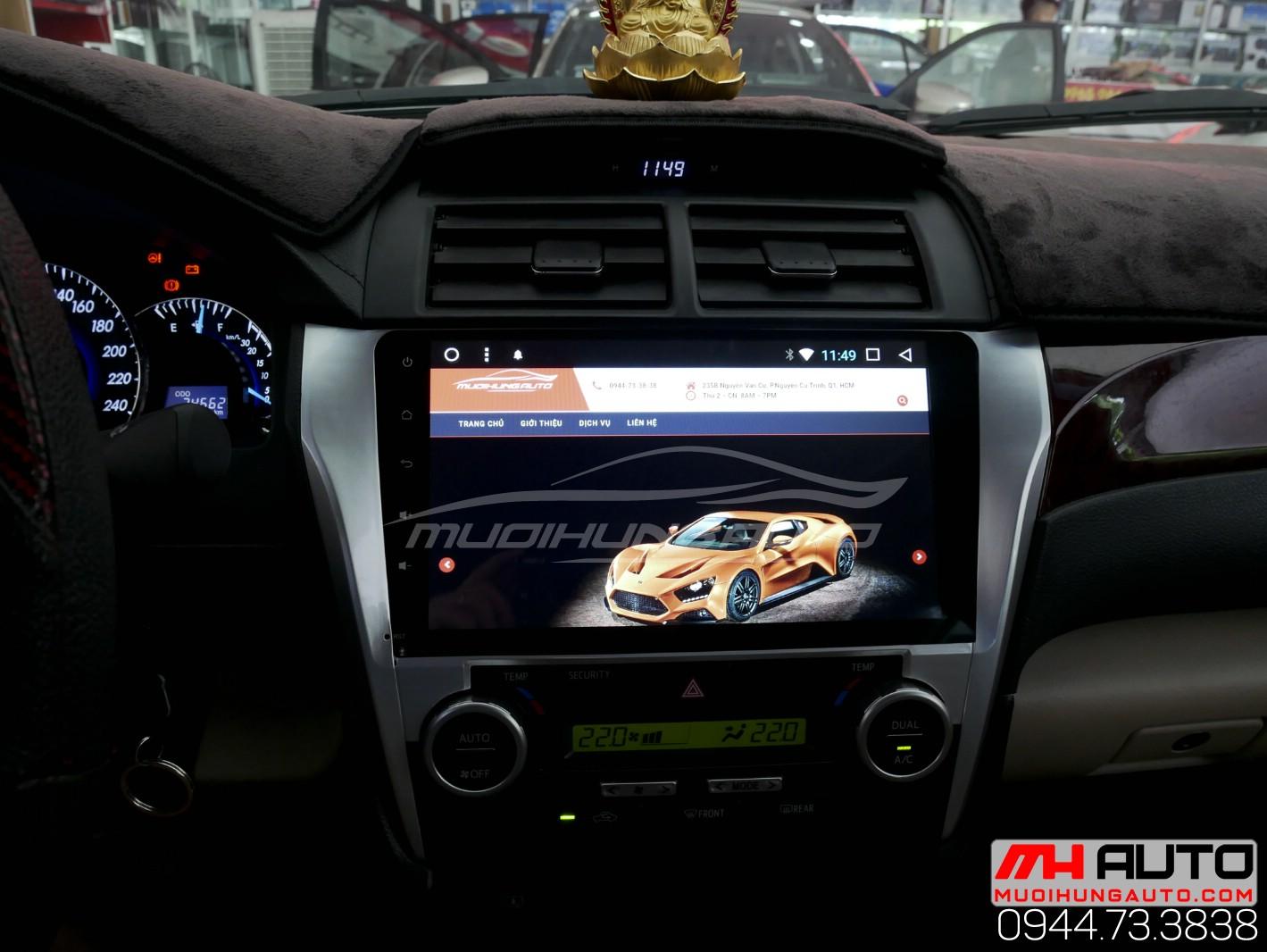 Gắn màn hình DVD Android xe Camry