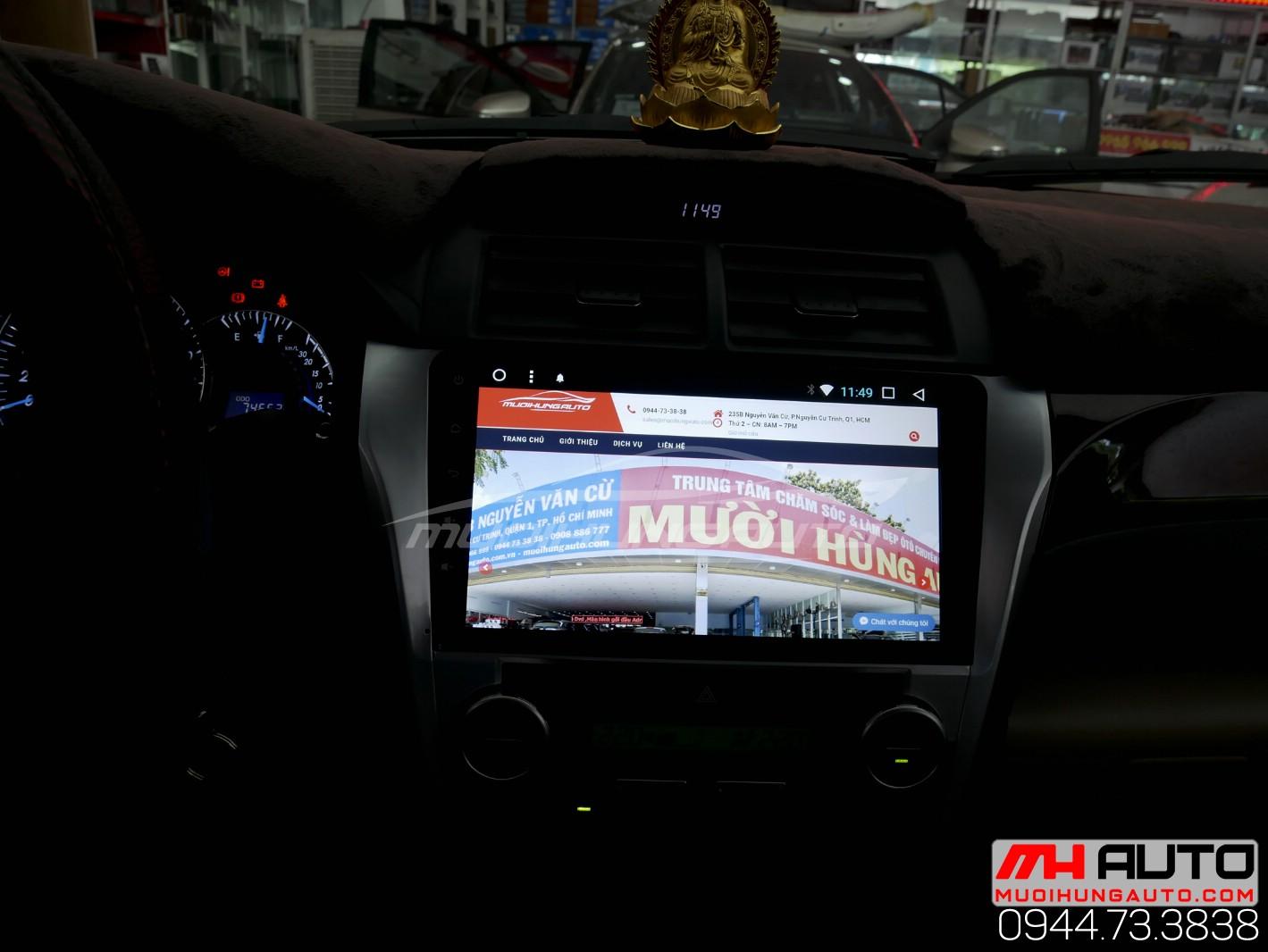 Gắn màn hình DVD Android cho xe Camry