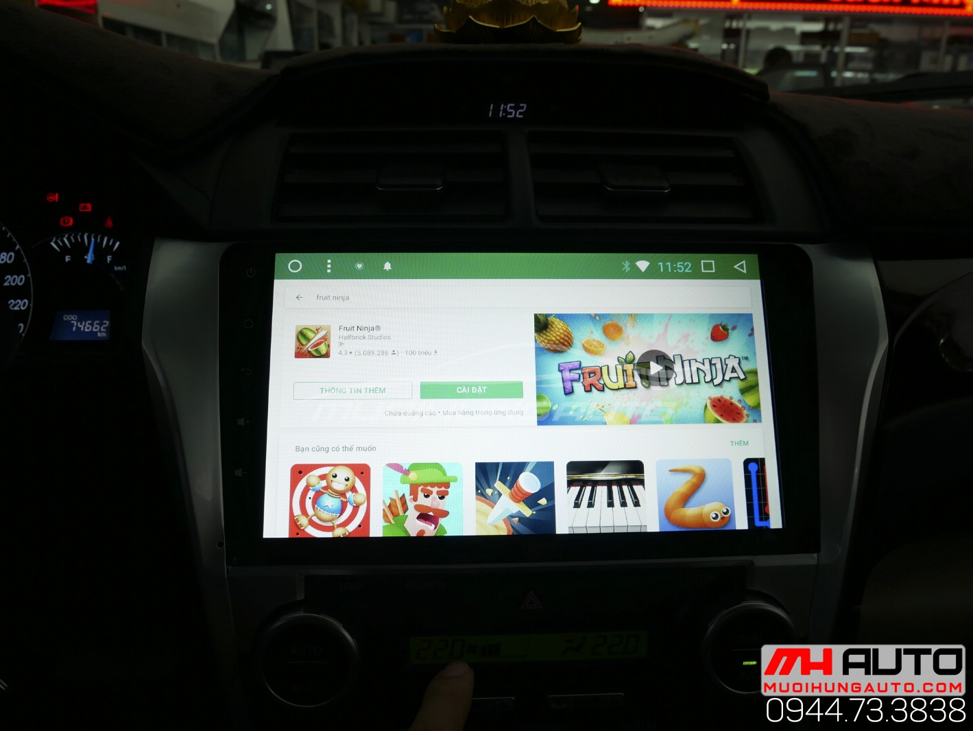 Gắn màn hình DVD Android Camry uy tín