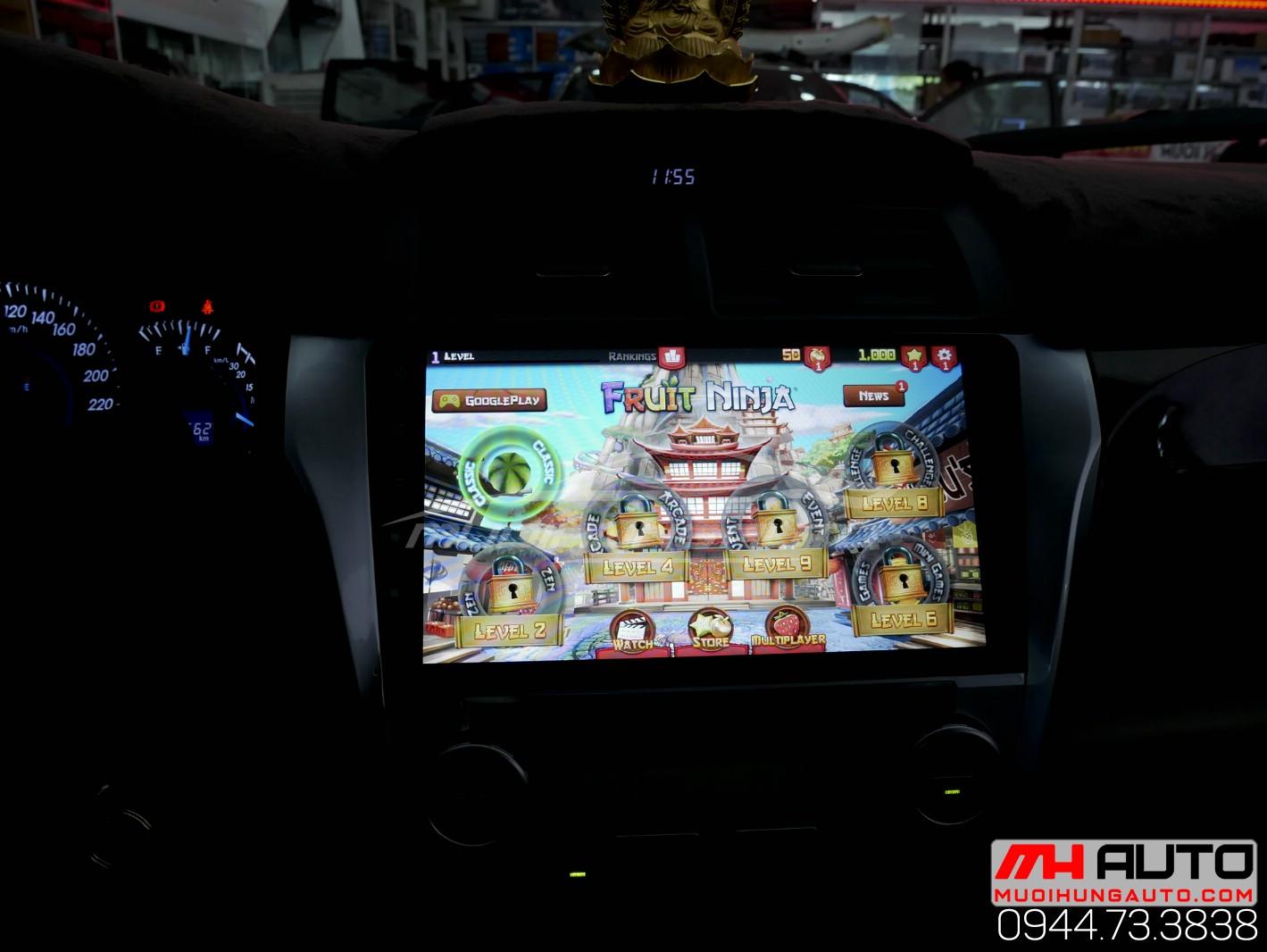 Gắn màn hình DVD Android Camry chính hãng