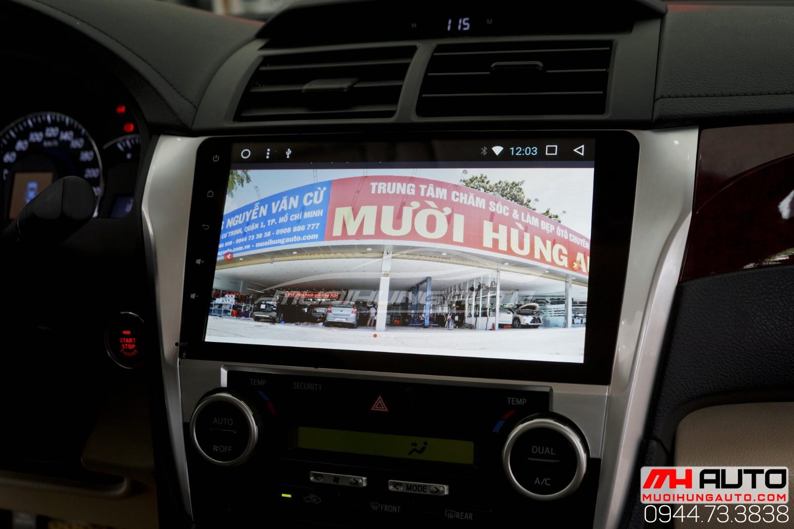 Màn hình DVD Android cho Camry đẹp siêu nét
