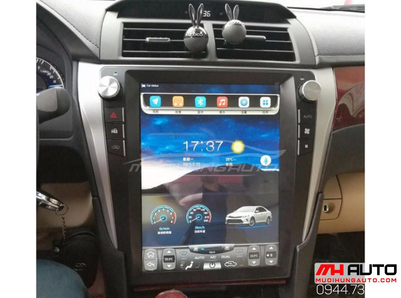 lắp đặt màn hình DVD Tesla cho ô tô Camry