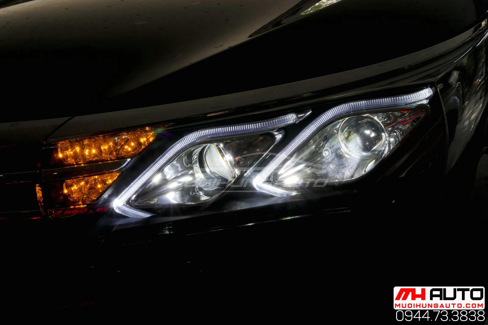 độ đèn pha nguyên cụm cho xe Altis