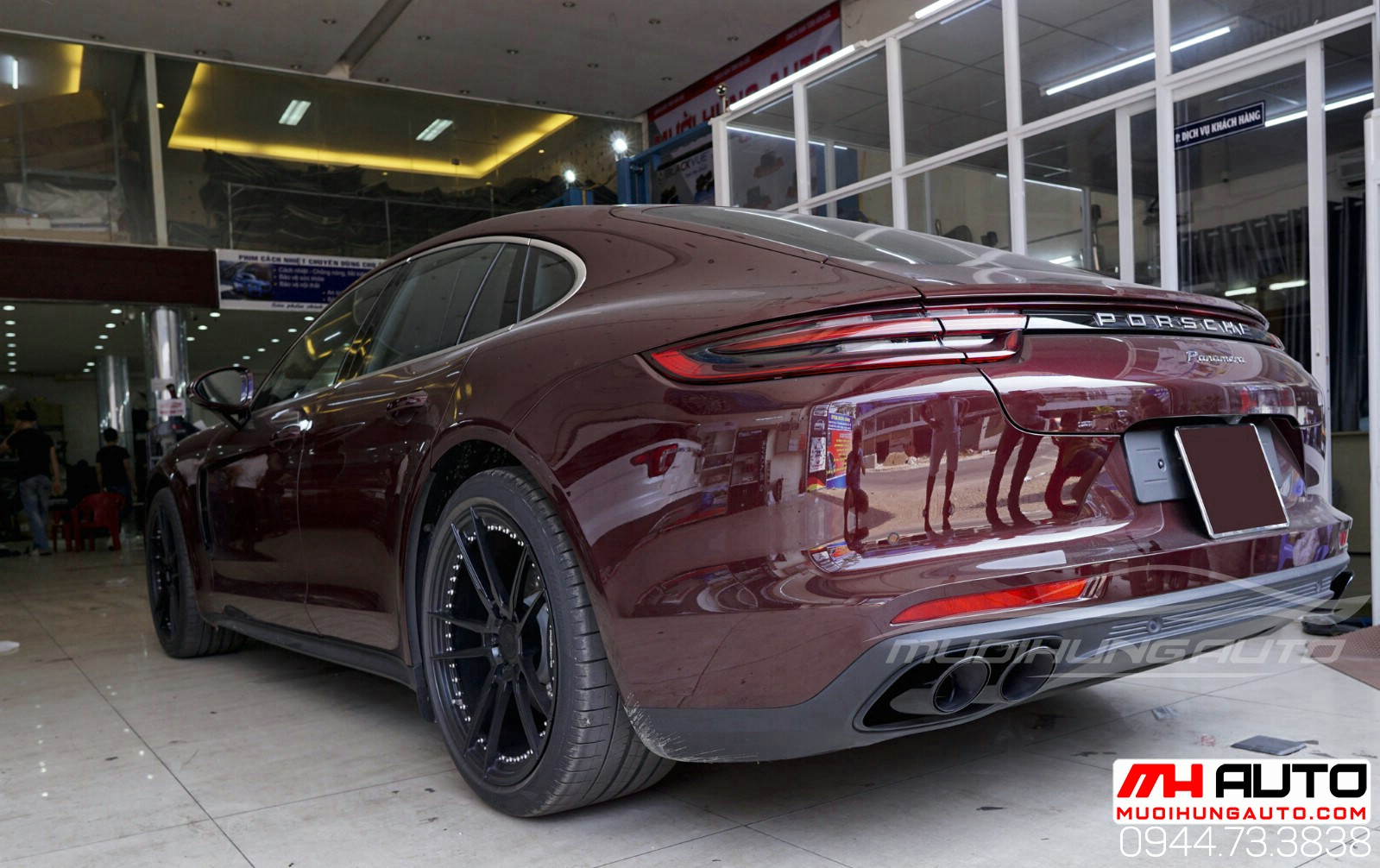 độ pô xe Porsche Panamera 2018