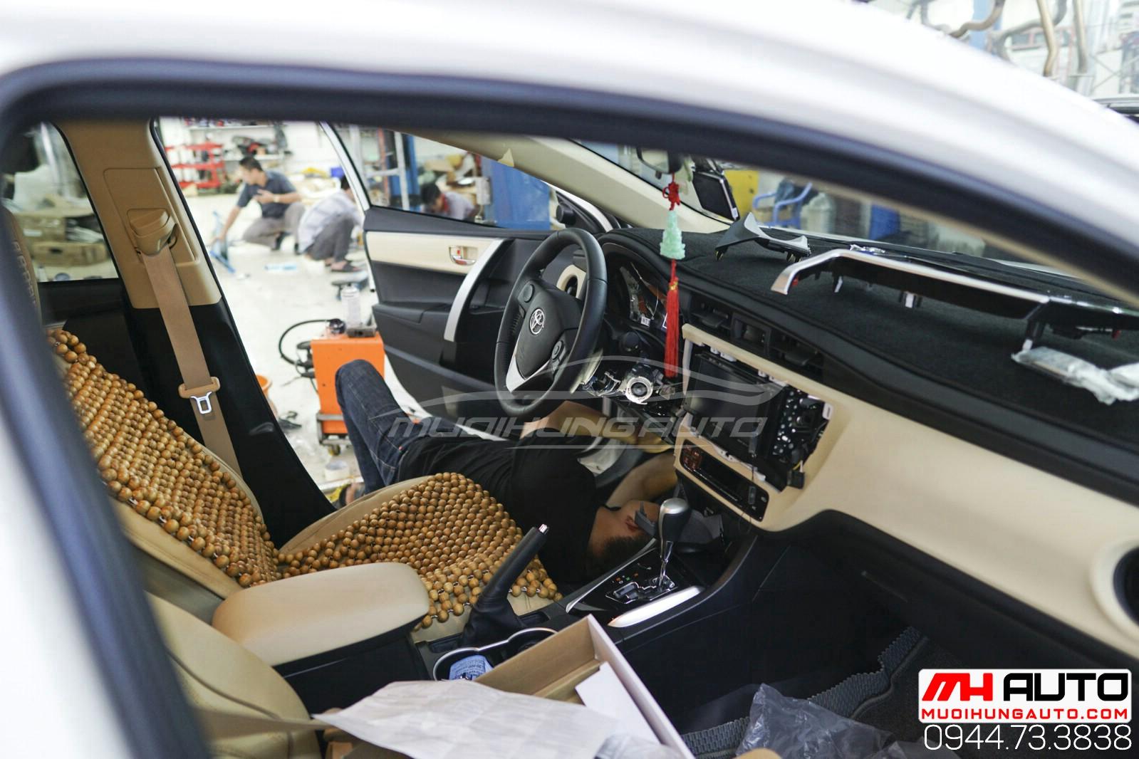 Gắn chìa khóa thông minh start stop xe Toyota Altis