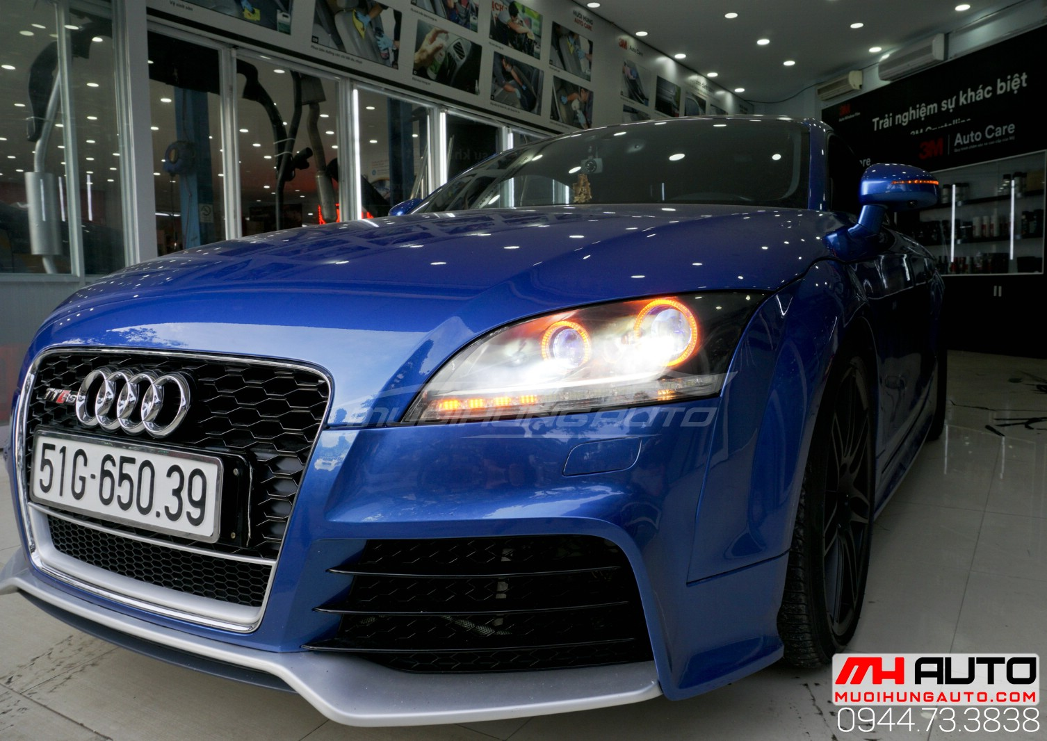 Audi TT độ đèn bi xenon