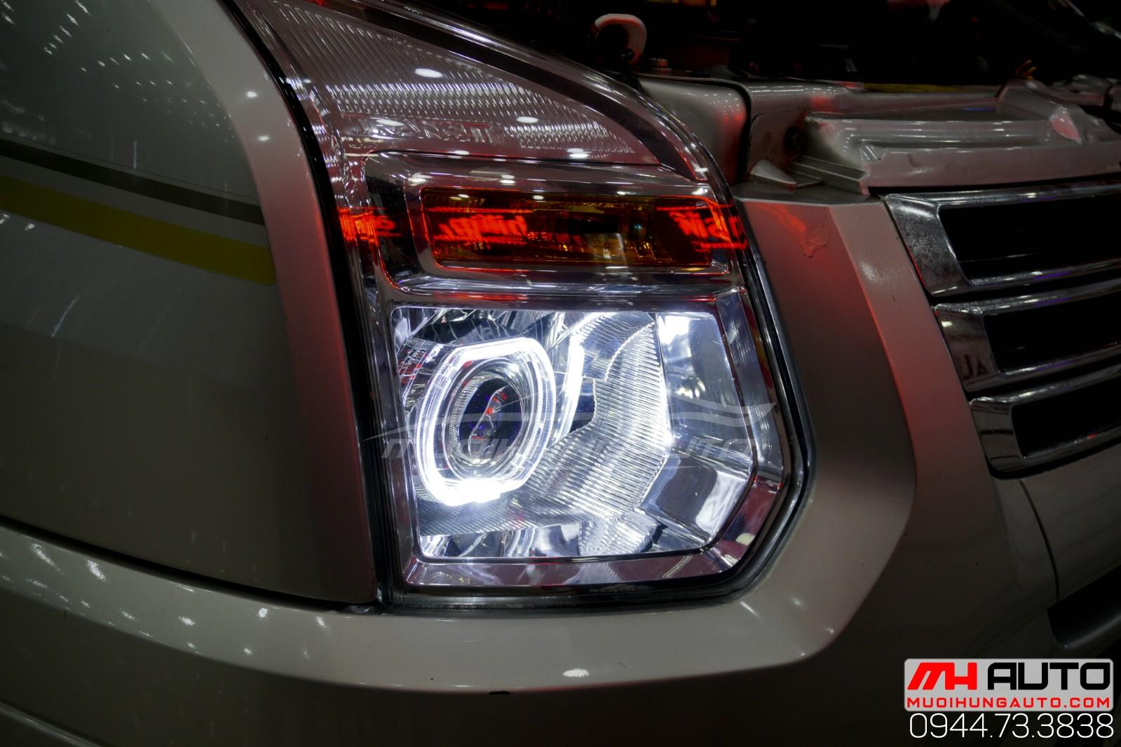 độ đèn bi pha cho xe Transit