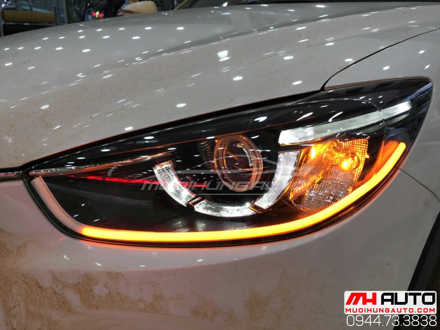 độ đèn xe CX5 đời 2015