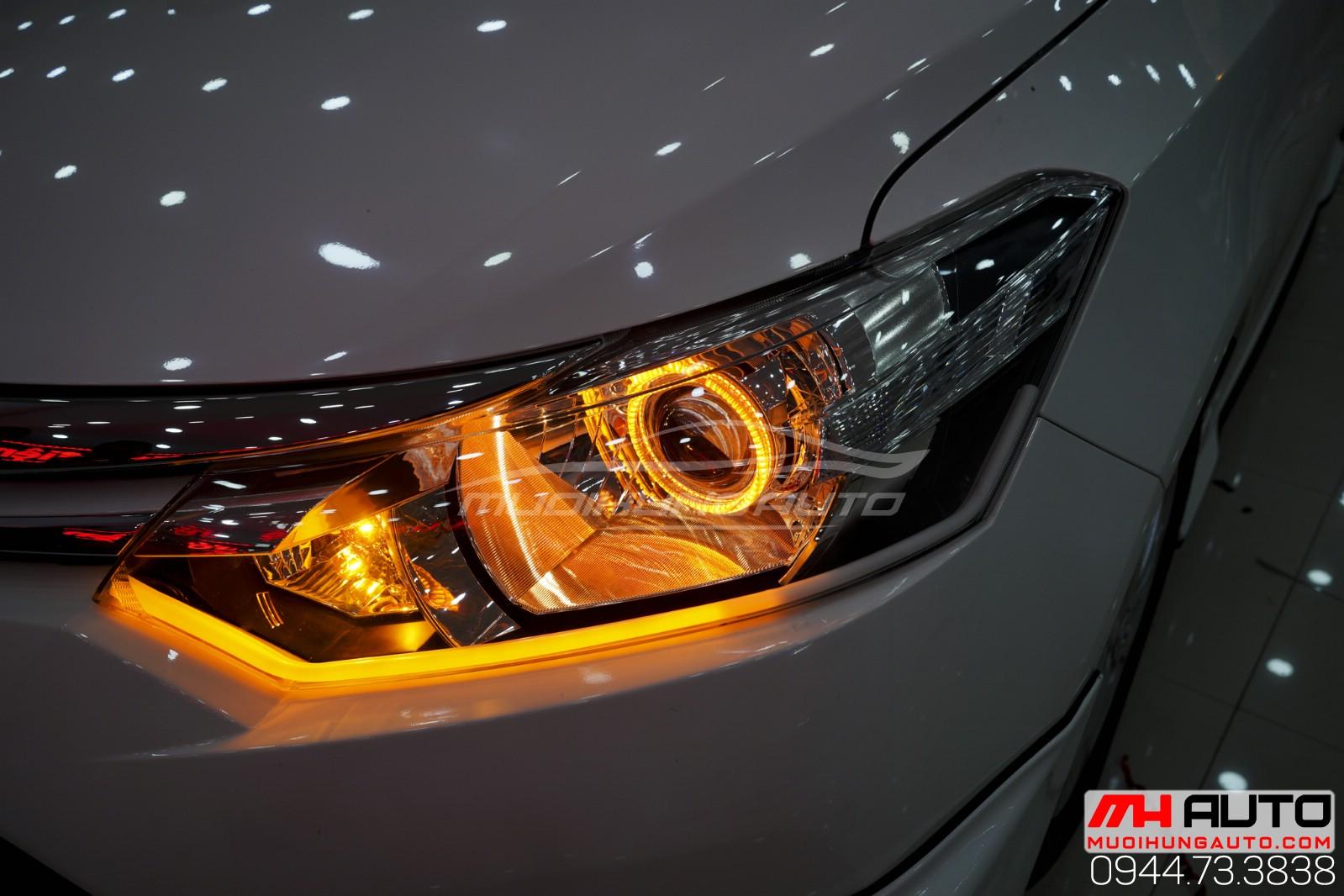Độ đèn nguyên cụm cho xe Vios