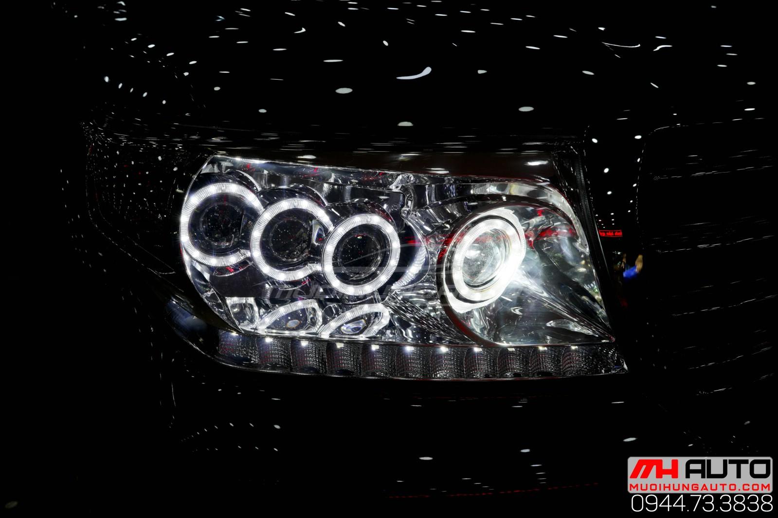 Độ ánh sáng đèn xe Land Cruiser