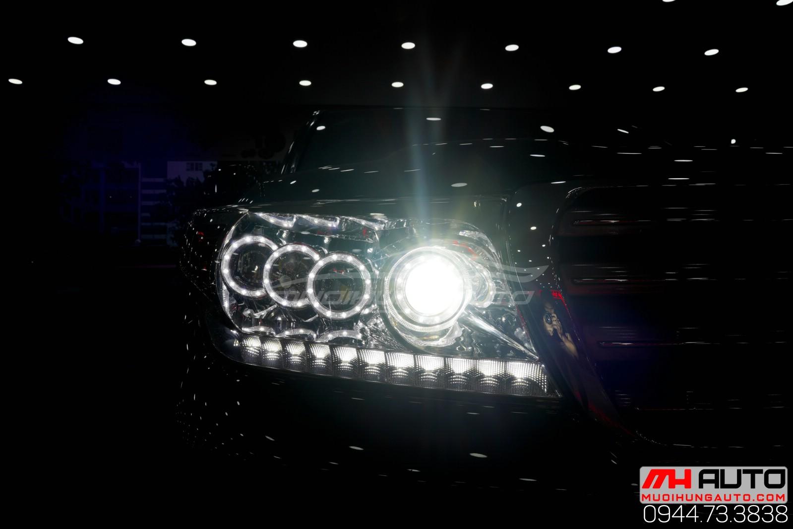 Độ đèn xe Land Cruiser 2018