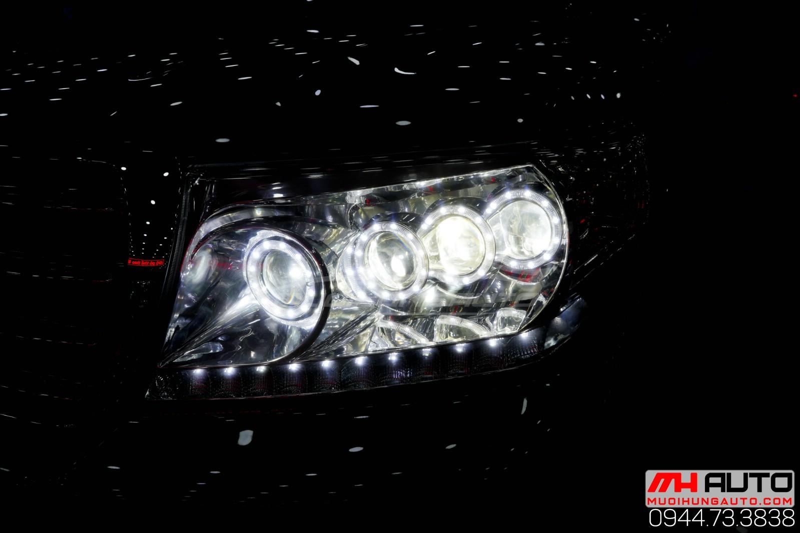 Độ đèn xe Land Cruiser hàng chính hãng