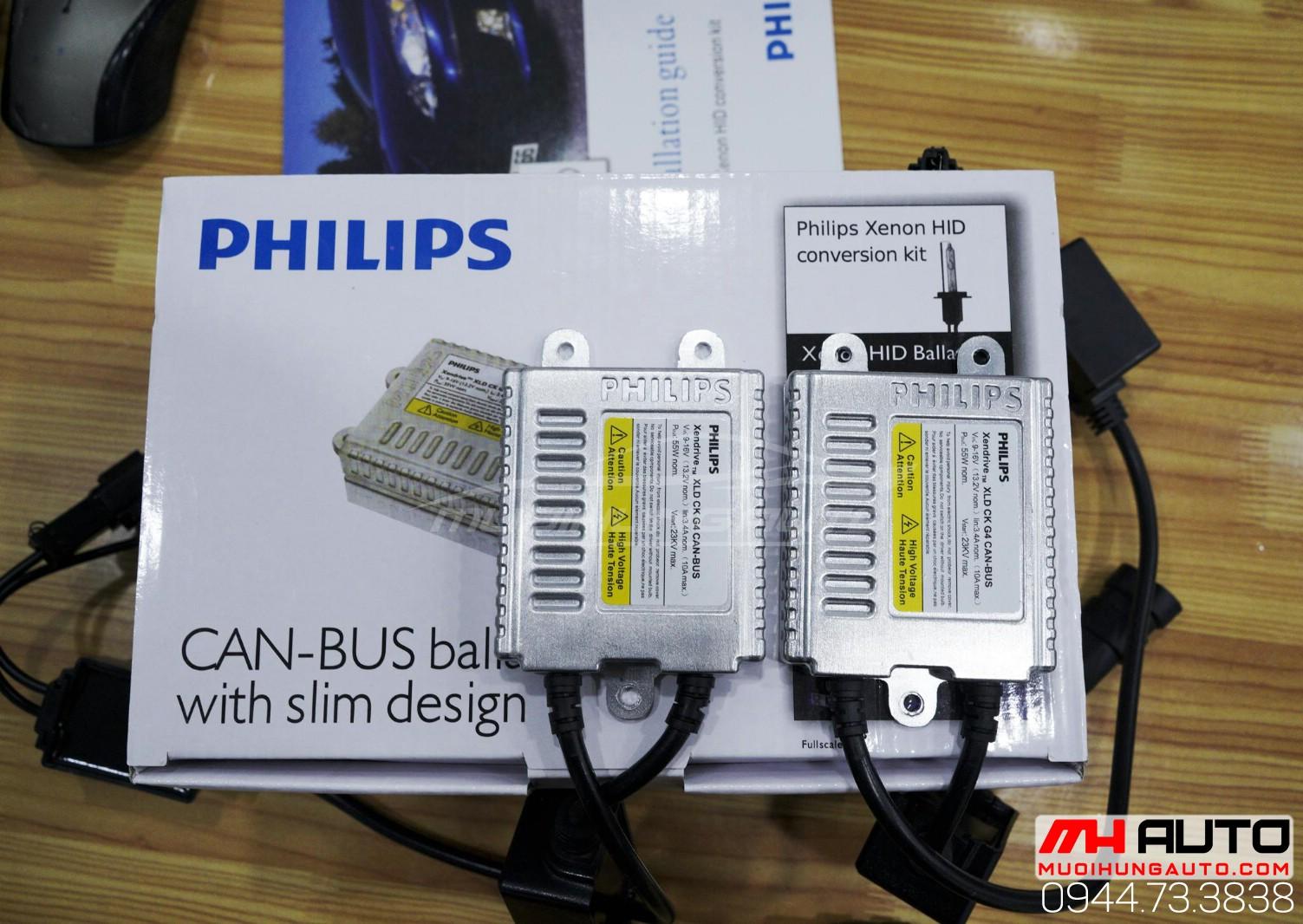 gắn bóng xenon Philips chính hãng tại Sài Gòn