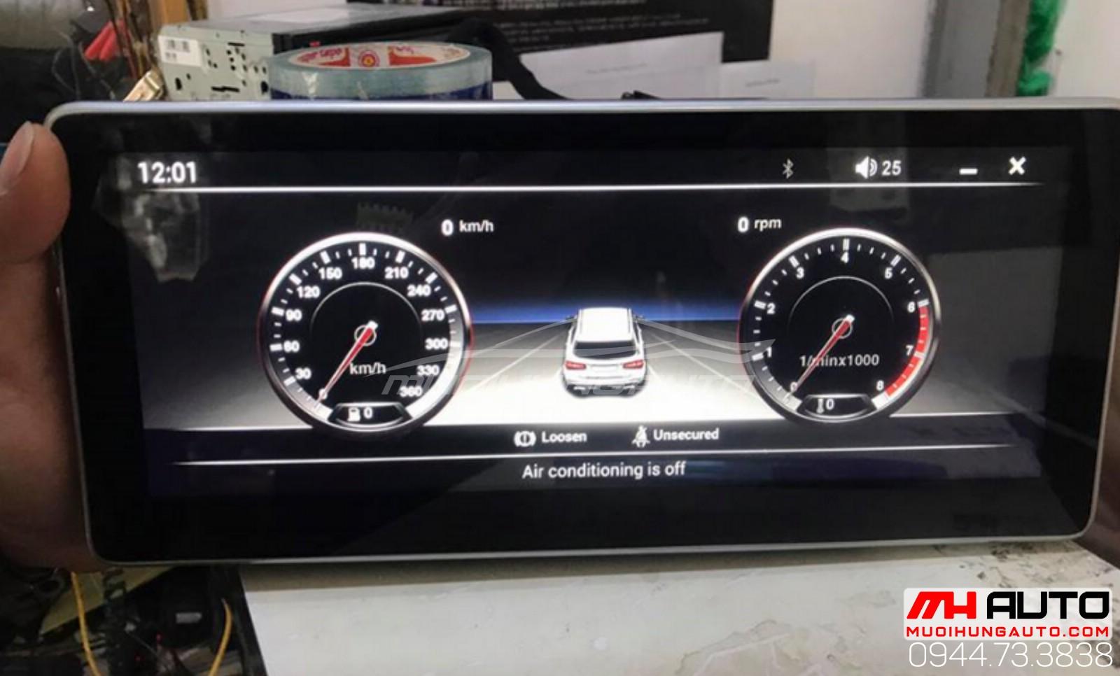 gắn màn hình xe ô tô chính hãng