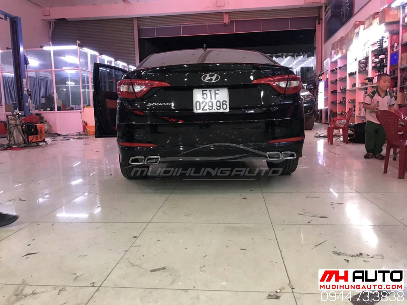 mẫu pô xéo xe Hyundai Sonata 2018