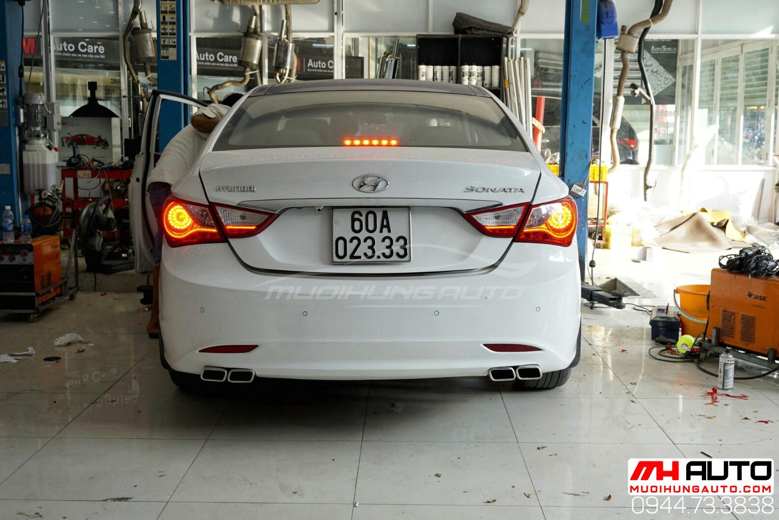 mẫu pô xéo xe Hyundai Sonata mới nhất