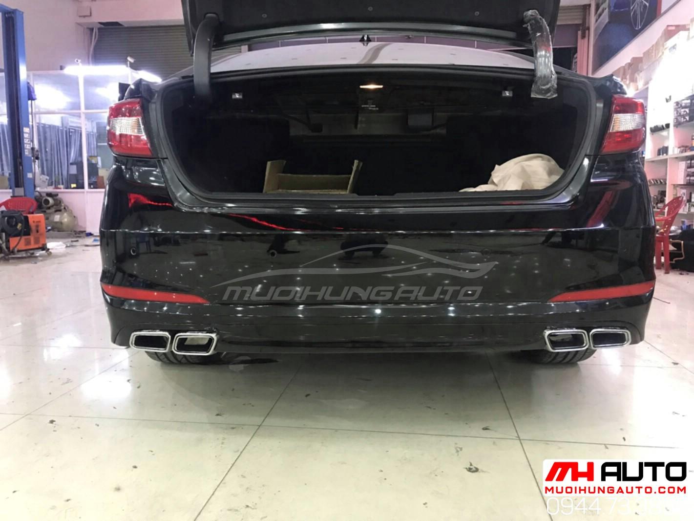 gắn mẫu pô xéo xe Hyundai Sonata