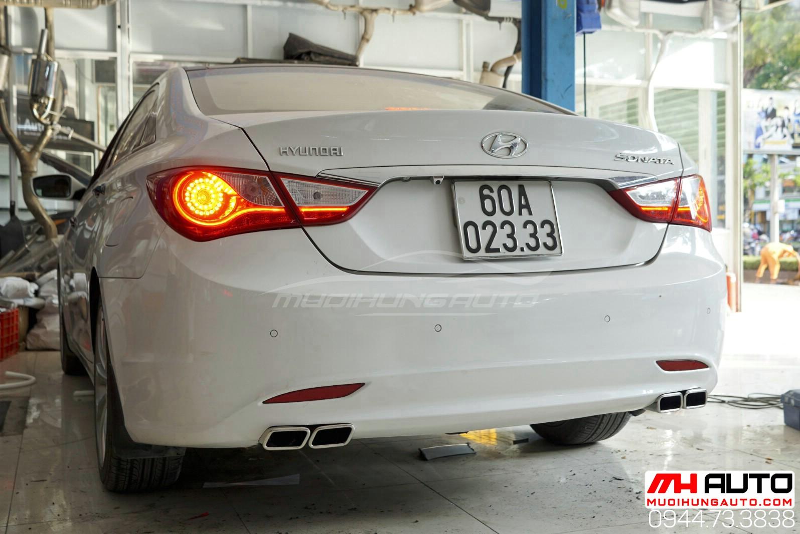 mẫu pô xéo xe Hyundai Sonata HCM