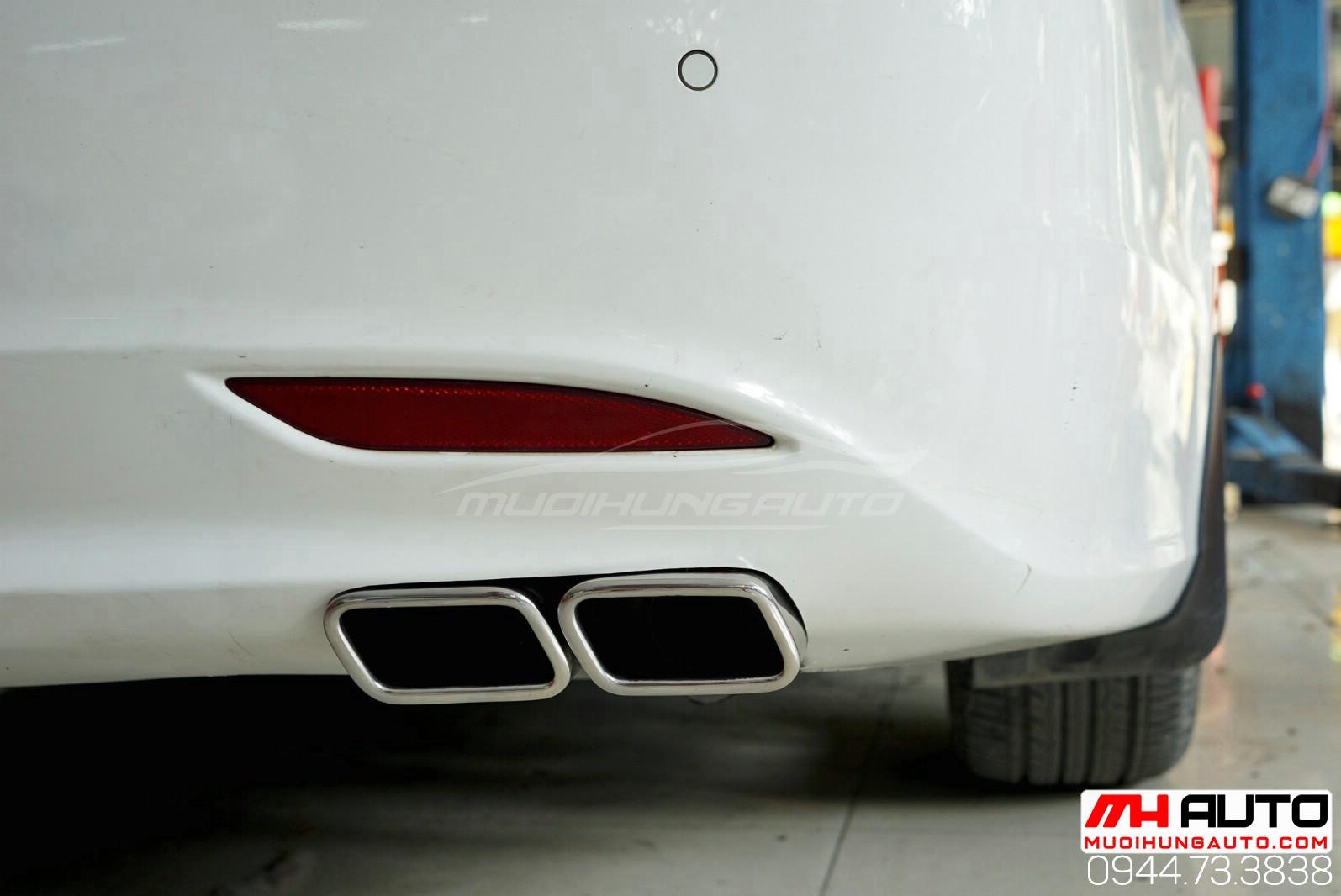 độ mẫu pô xéo xe Hyundai Sonata