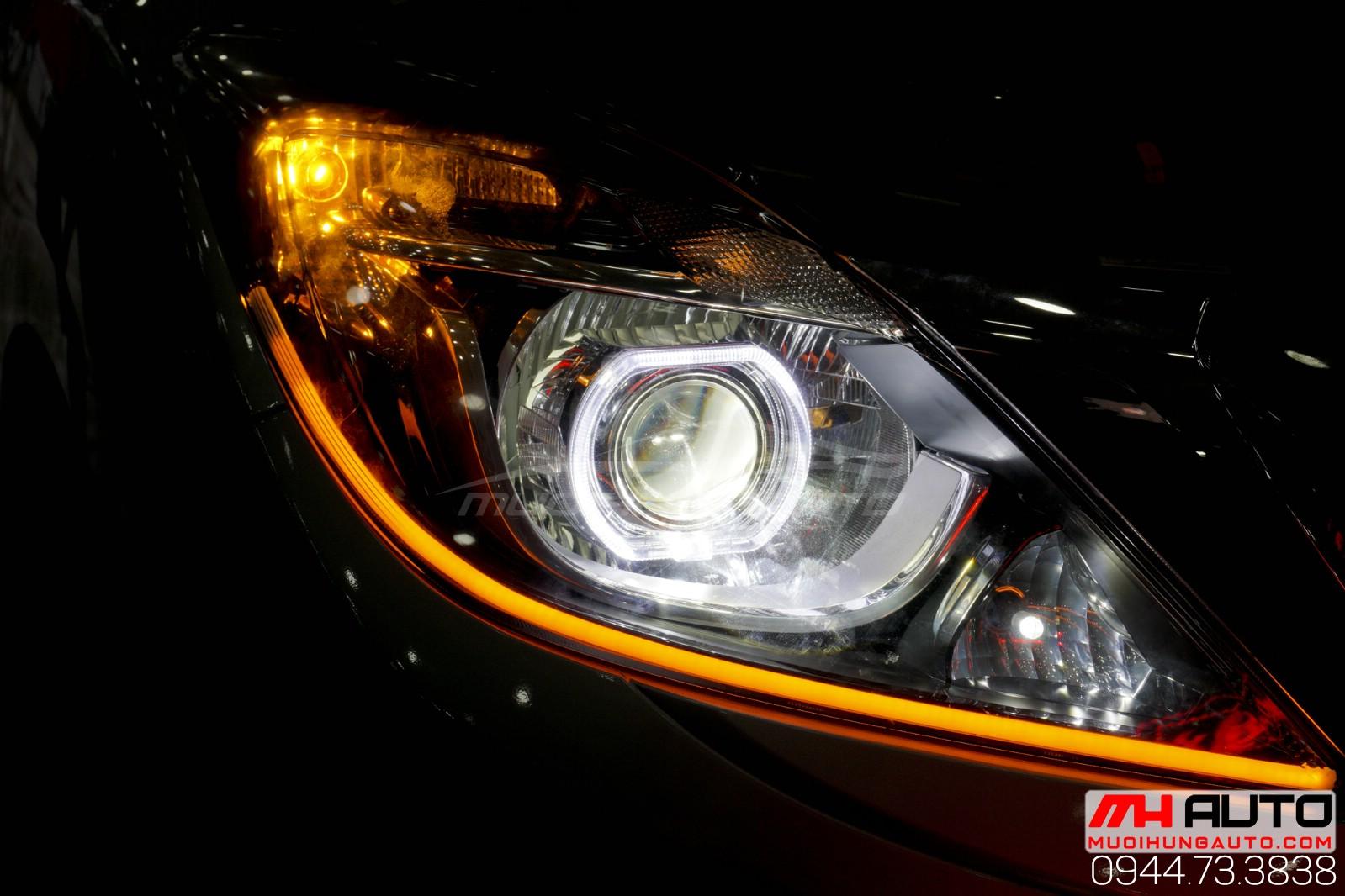 độ đèn bi led mí Mazda BT50 HCM