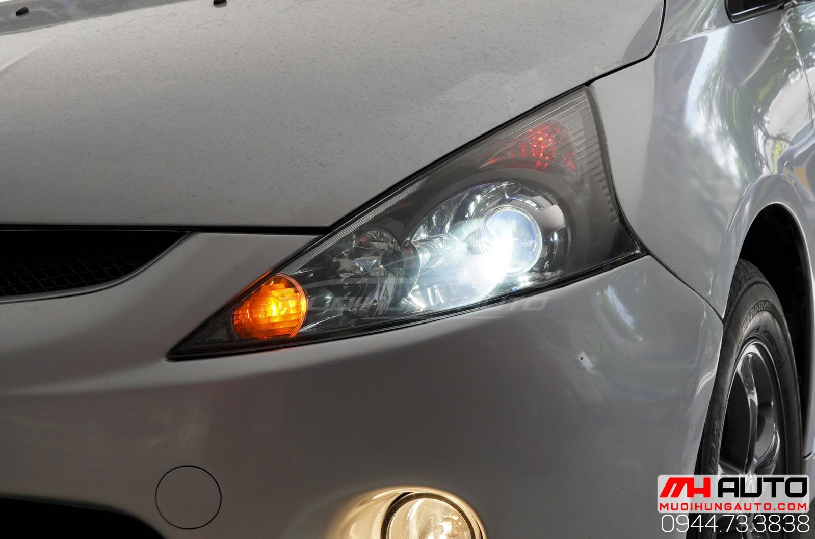 Độ đèn gầm bi cho xe Mitsubishi Grandis