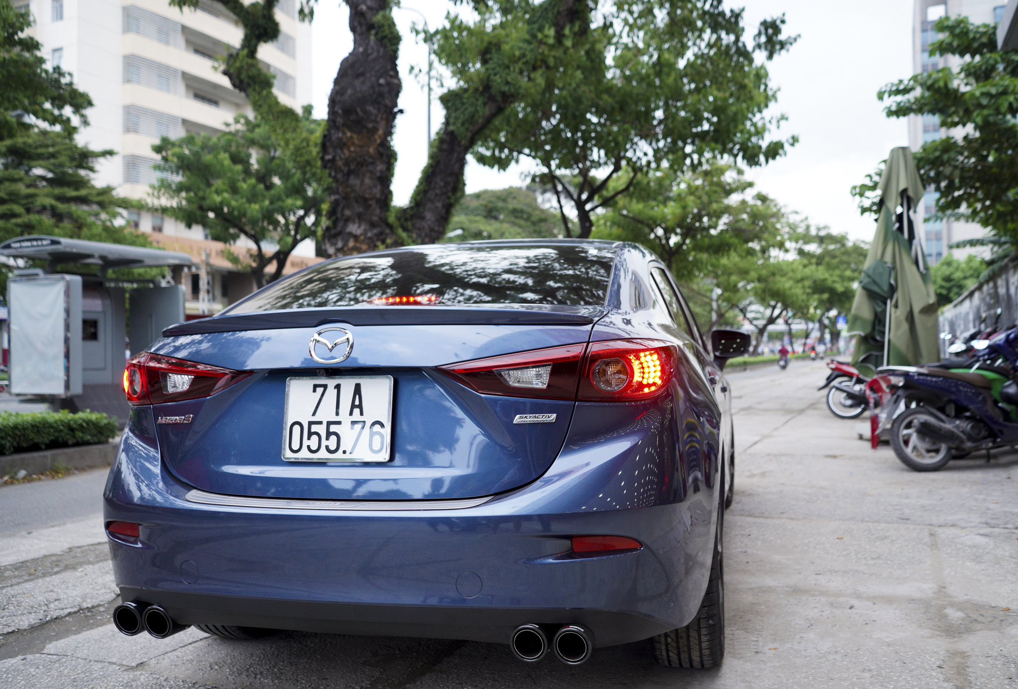 Mazda 3 pô đôi ak không lip cho tiếng nổ thêm chất