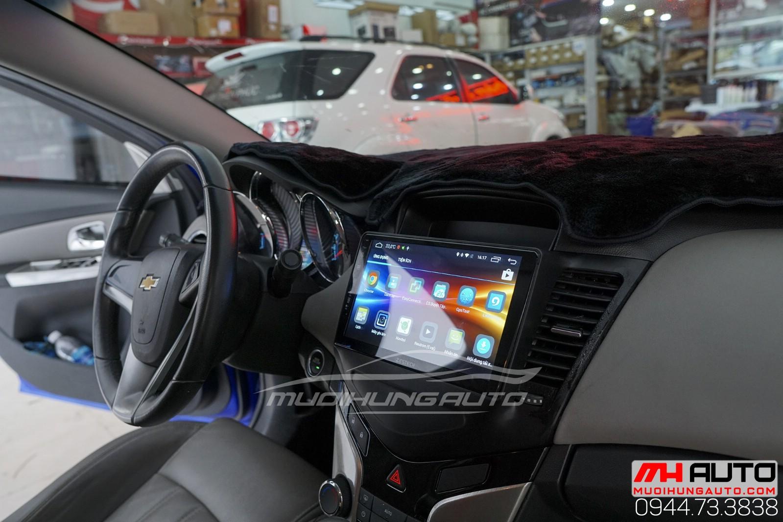 gắn màn hình dvd Androi theo xe Chevrolet Cruze