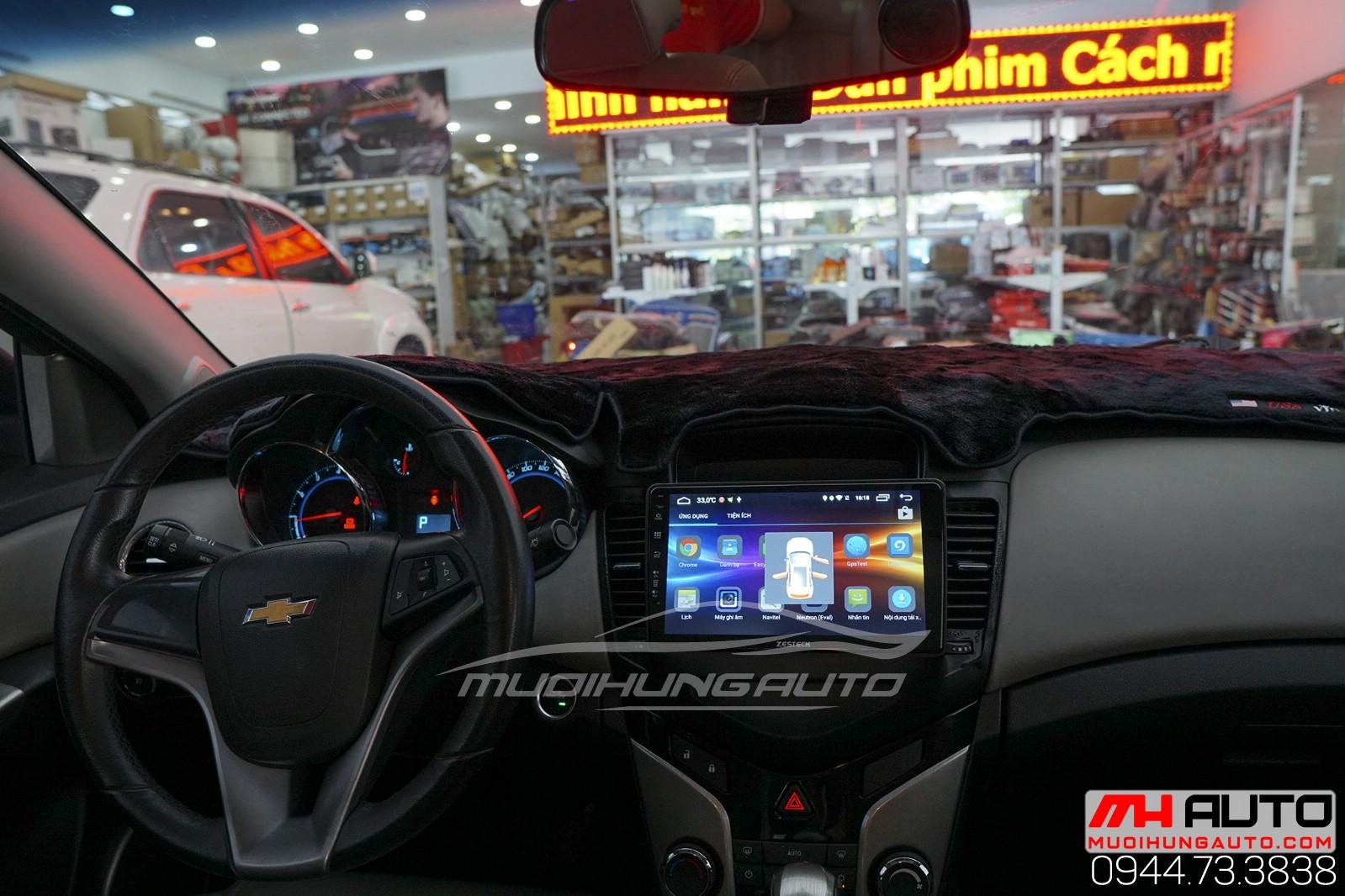 gắn màn hình dvd Androi zin theo Chevrolet Cruze
