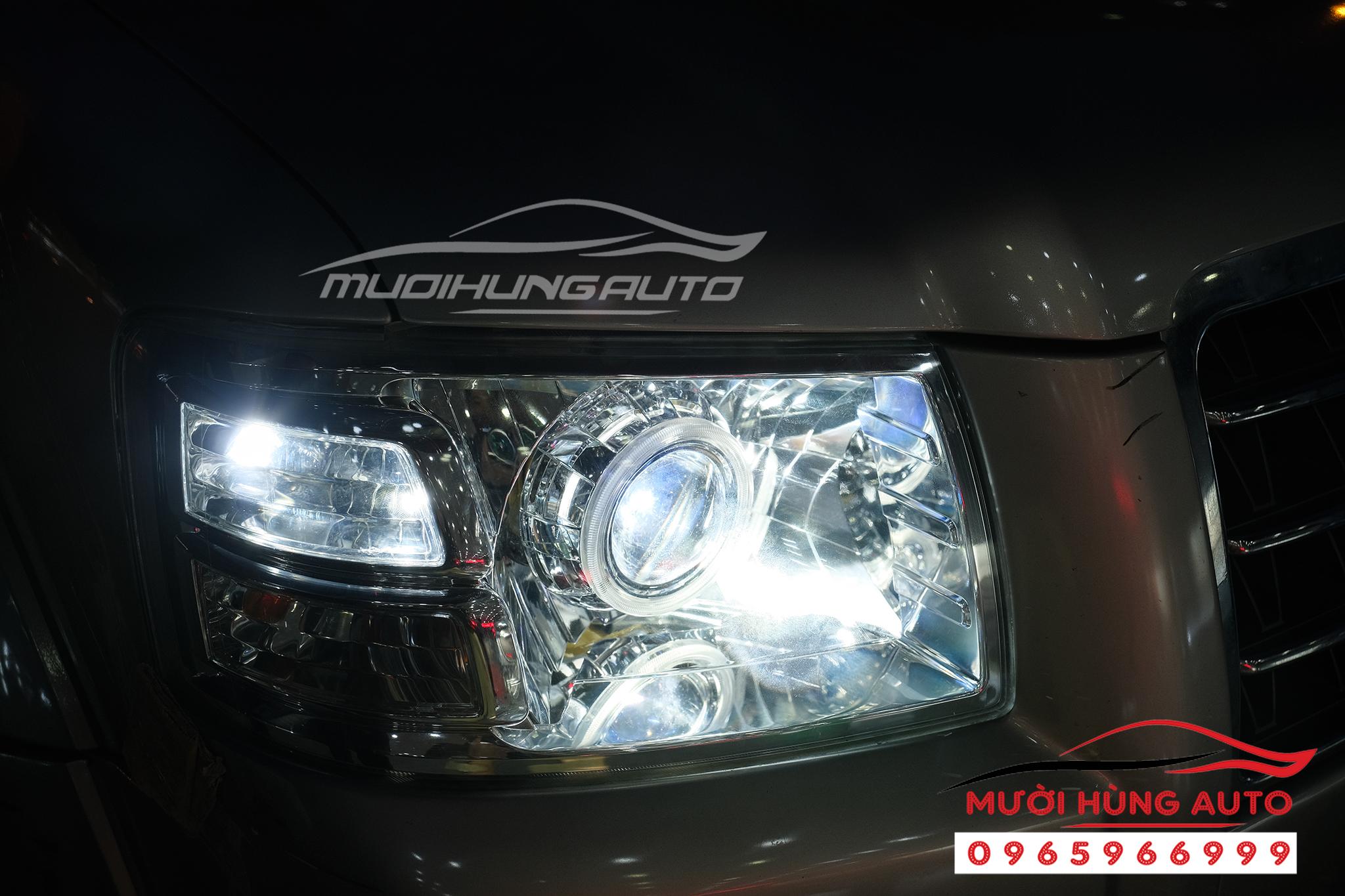 độ đèn xe Ford Evrest 2008 loại bóng bi xenon siêu sáng