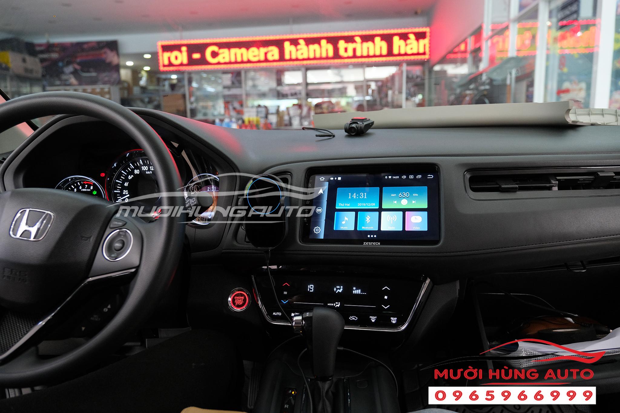 Gắn dvd xe Honda HRV Zestech Pro