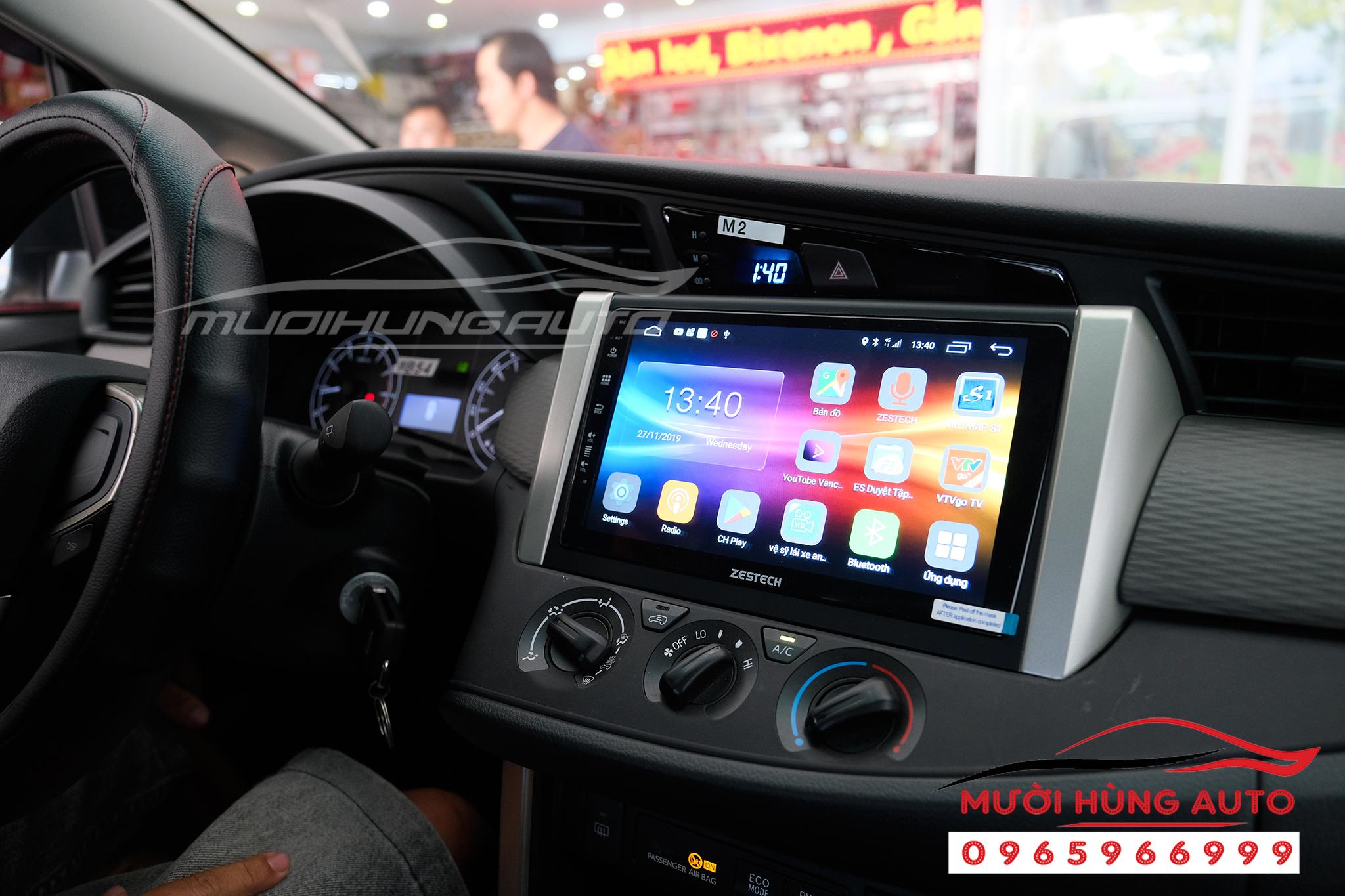 gắn màn hình dvd Toyota Innova 2018 Z500 Zestech