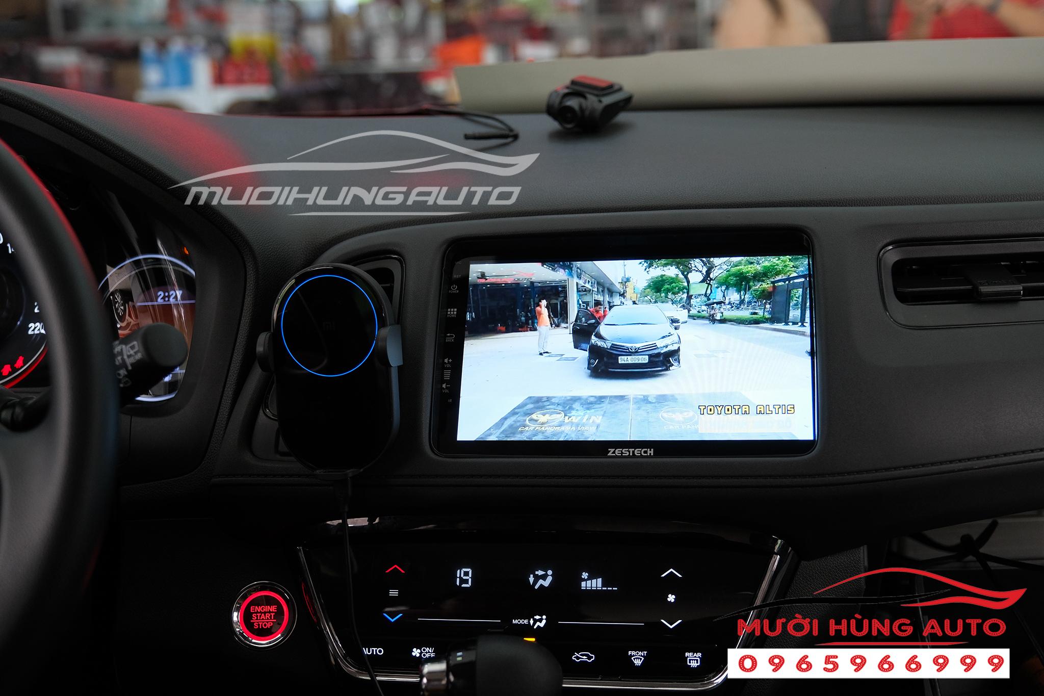 Gắn màn hình dvd xe Honda HRV Zestech Z800 Pro