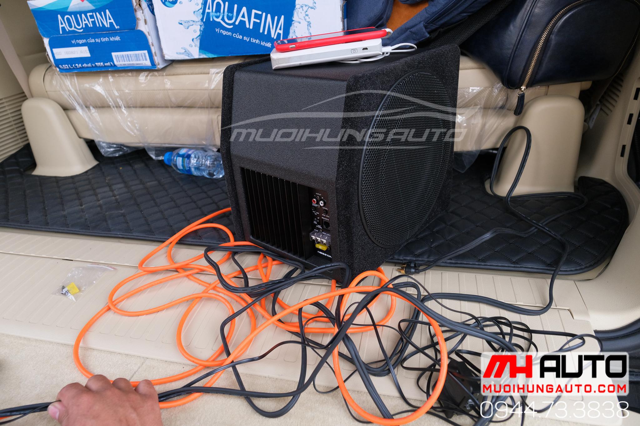 gắn loa sub hơi Nakamichi xe Hyundai Tucson 2019