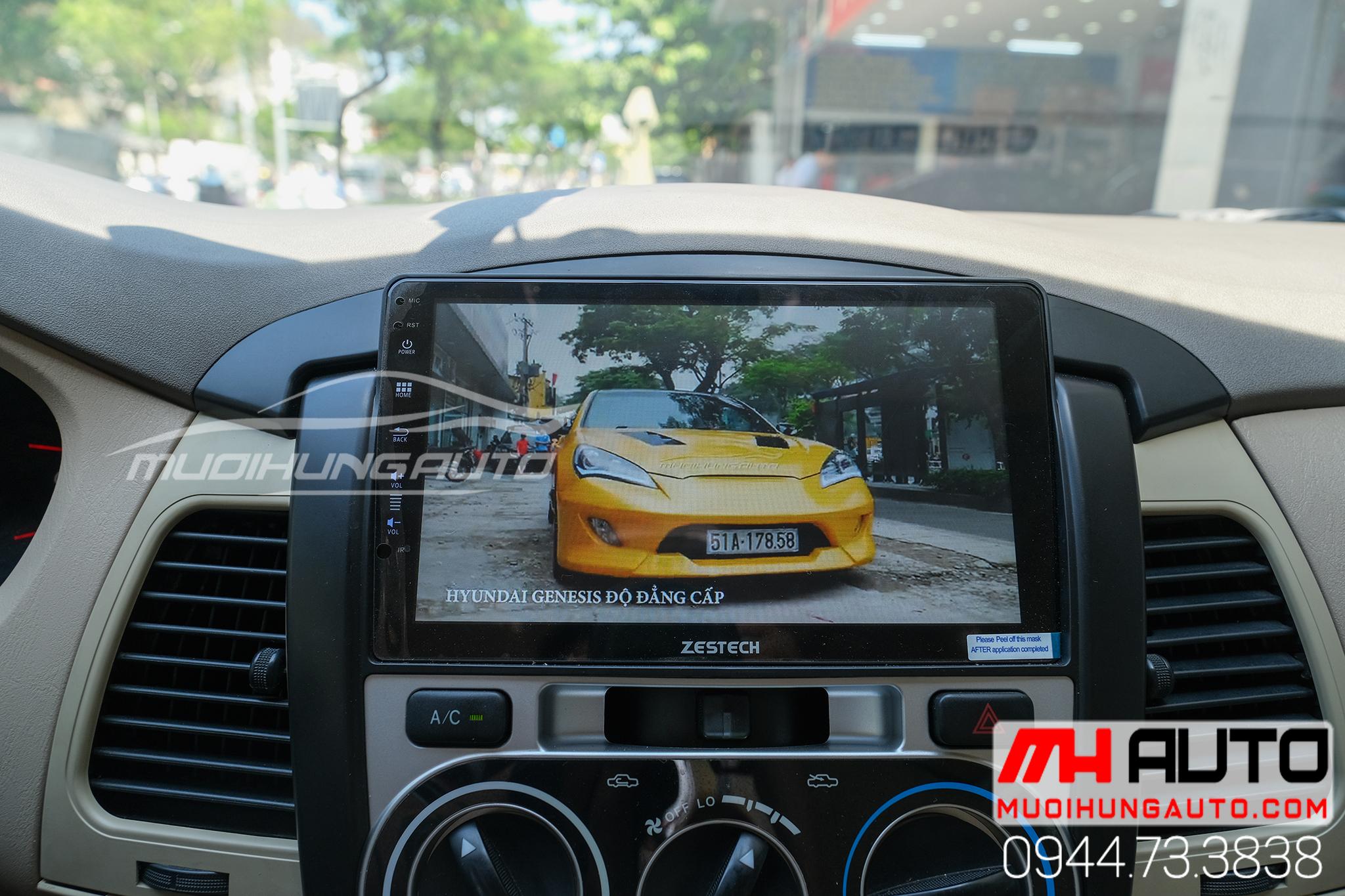lắp đặt màn hình dvd android Zestech Z800 Pro xe Toyota Innova 2005