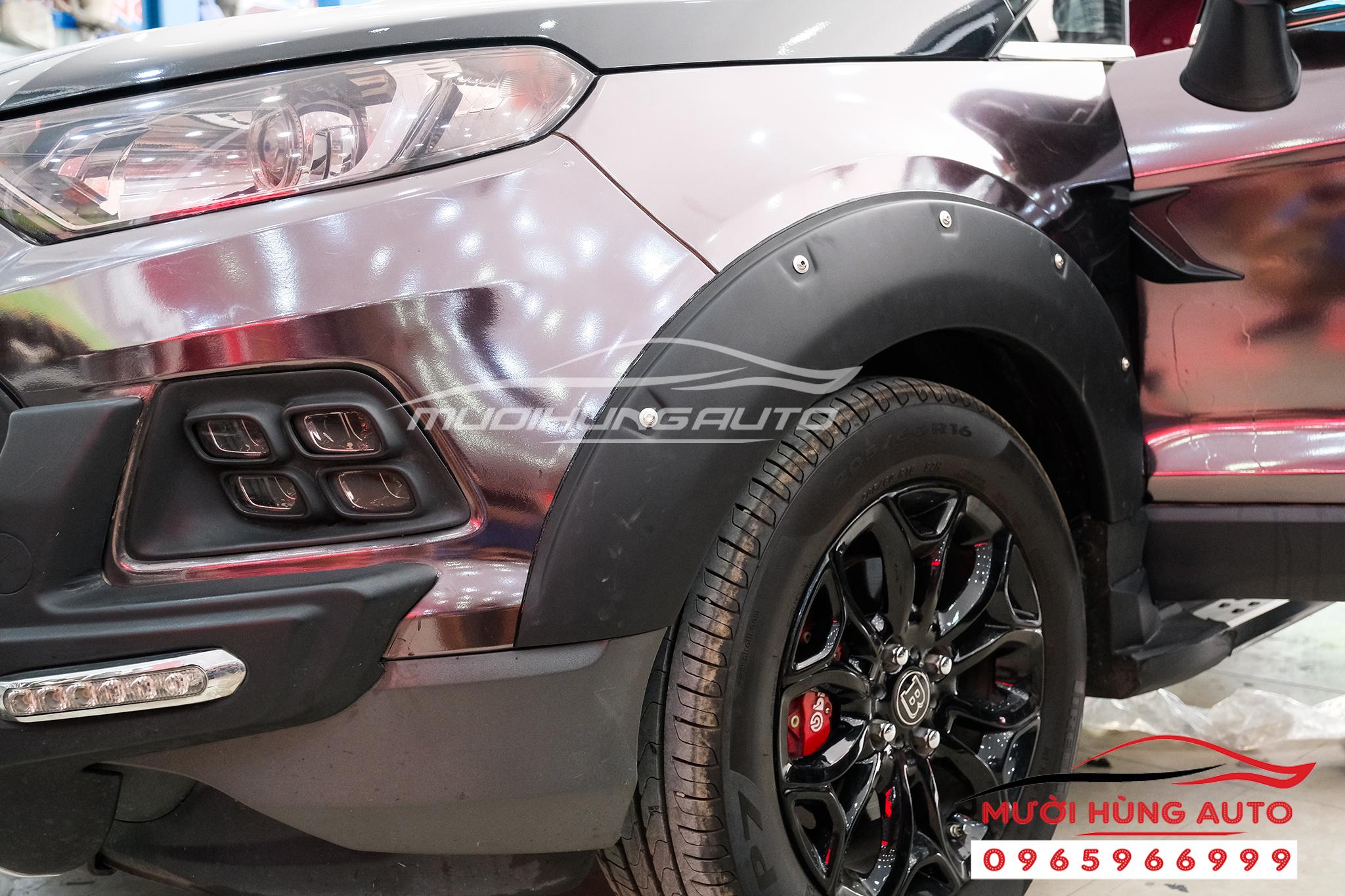 lắp đặt Ốp cua bánh xe Ford Ecosport 2019-2020
