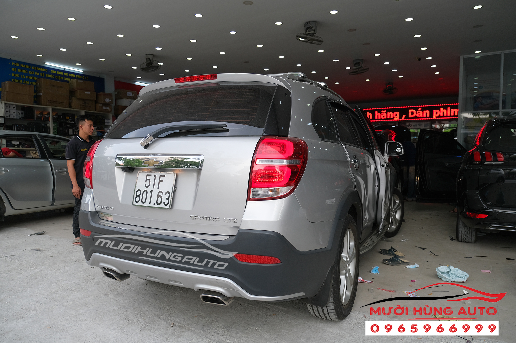 sub Pioneer TS-WH500A xe Chevrolet Captiva