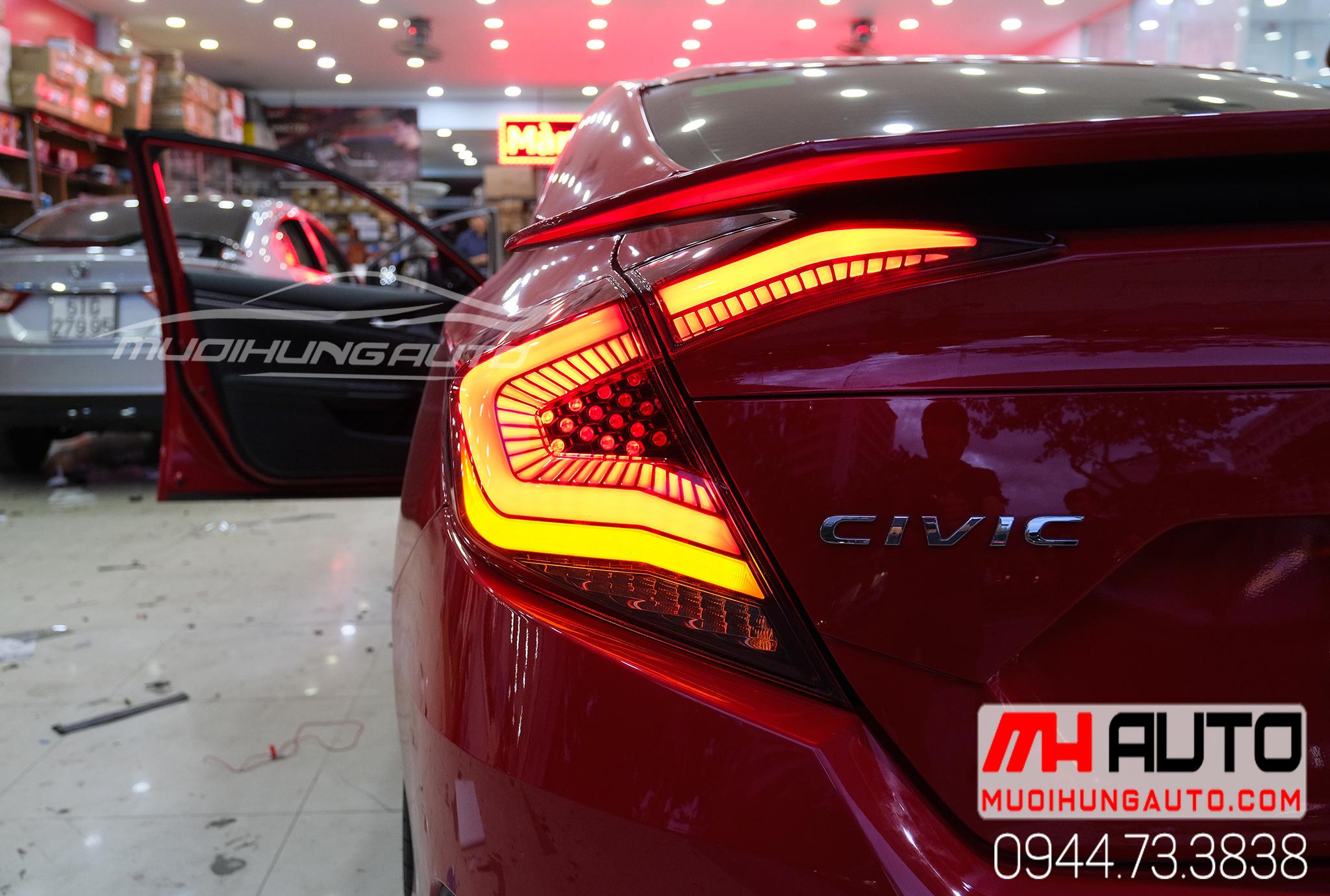 Thay đèn hậu nguyên cụm xe Honda Civic 2019 mẫu mới 2019 - 2020