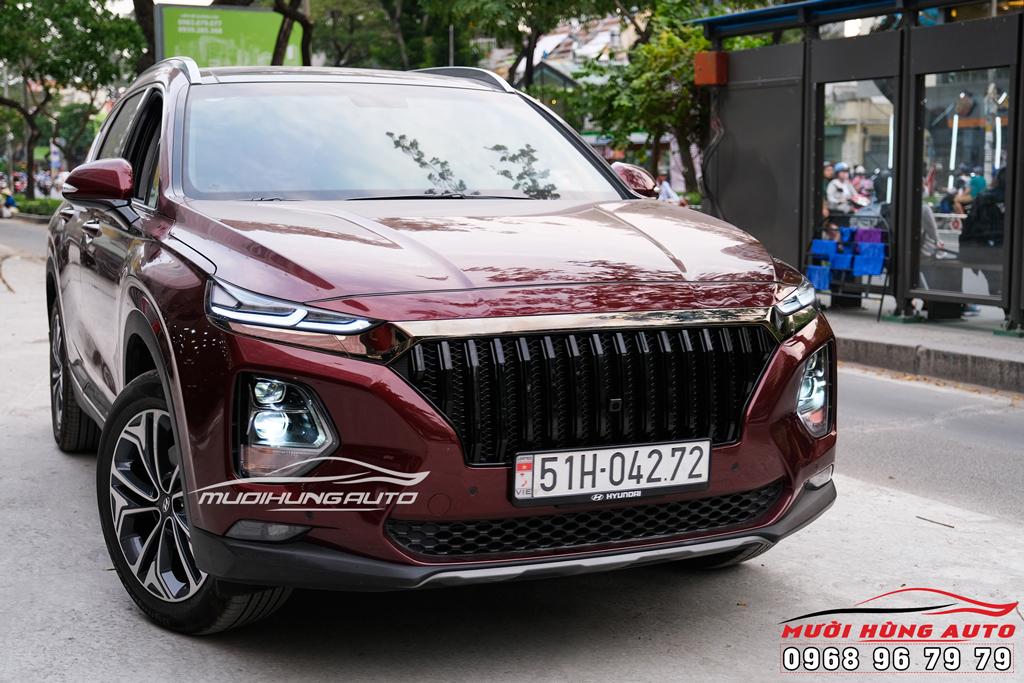 độ đèn xe Hyundai Santafe 2019-2020 giá rẻ