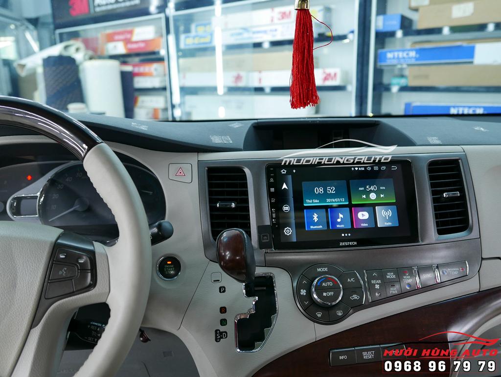 gắn màn hình dvd Android 10 inch xe Toyota Sienna 2014 – Zestech Z800