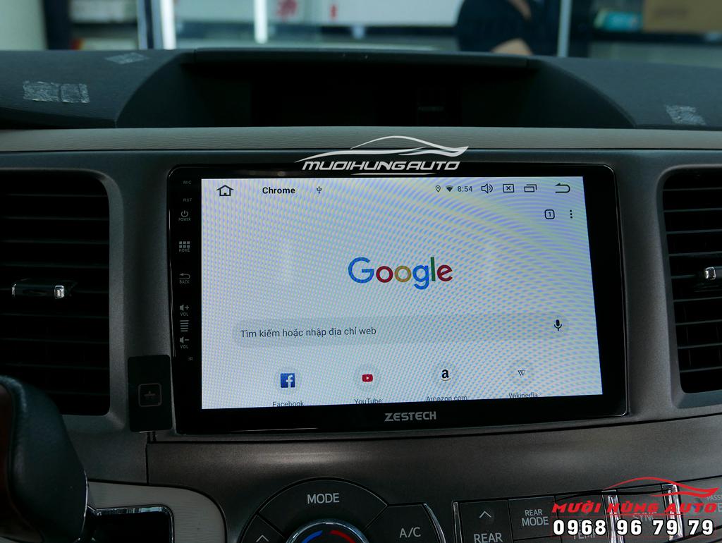 lắp đặt màn hình dvd Android 10 inch xe Toyota Sienna 2014 – Zestech Z800