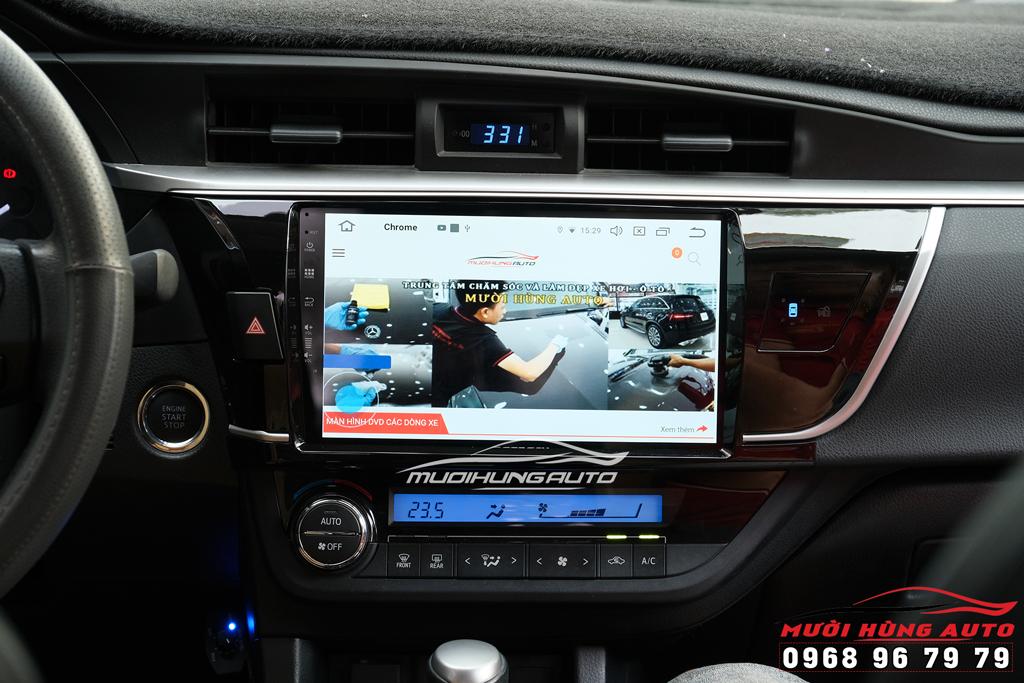 lắp đặt màn hình dvd android xe Toyota Altis 2018-2019 Zestech Z900