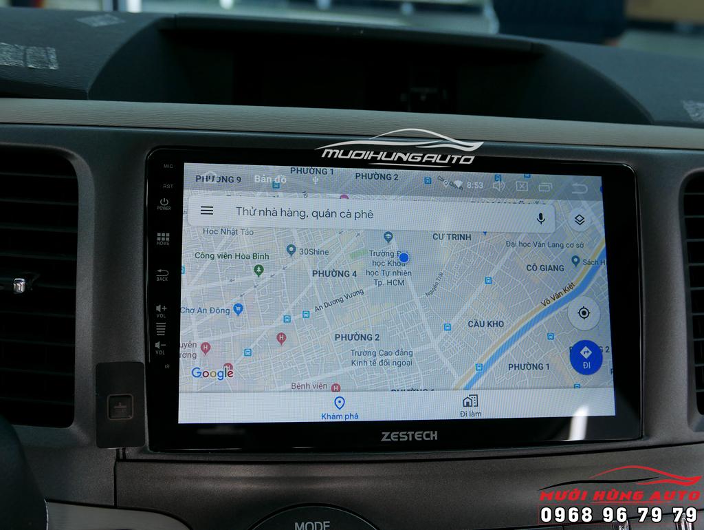 lắp màn hình dvd Android 10 inch xe Toyota Sienna 2014 – Zestech Z800