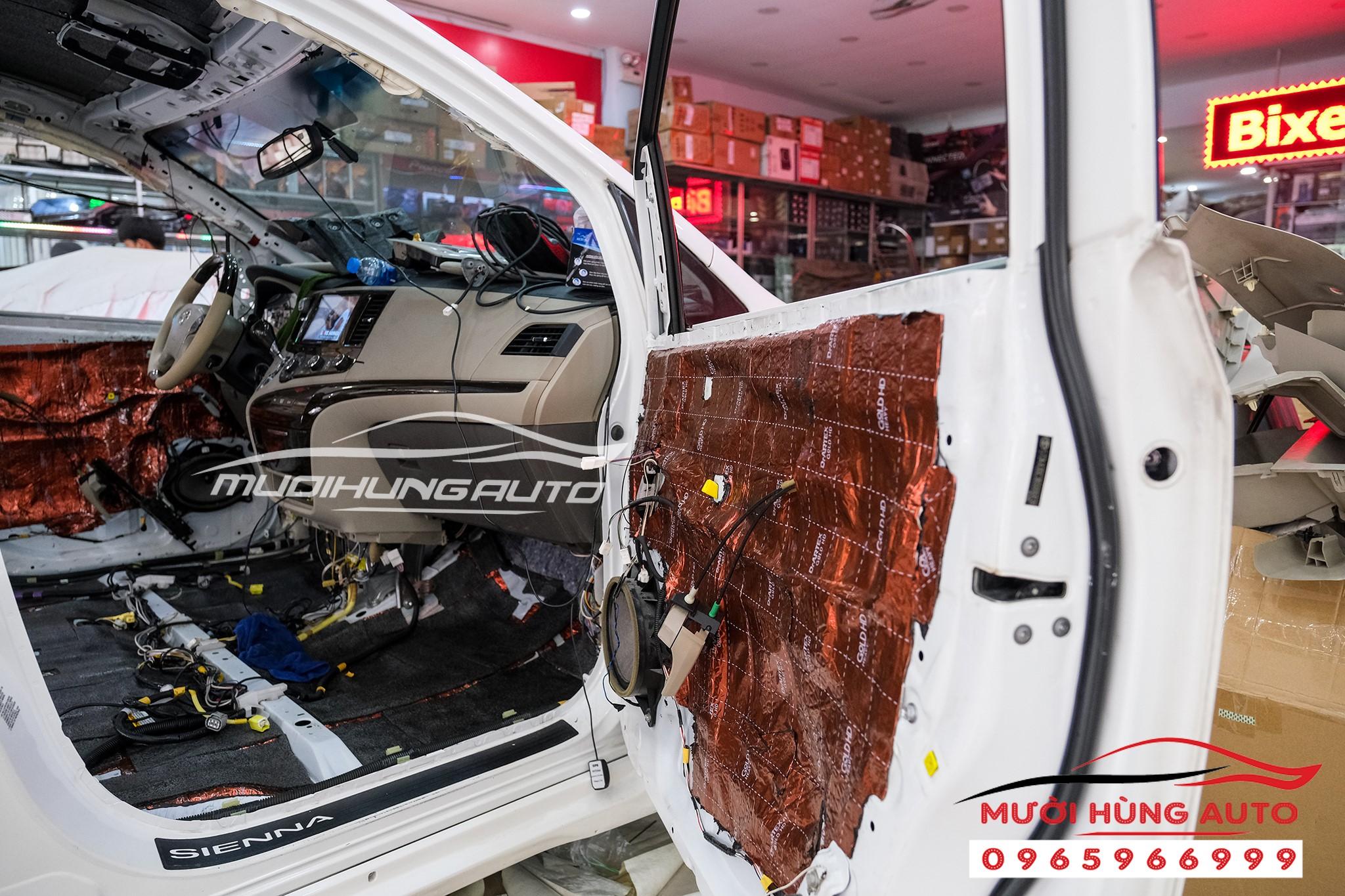 cách âm chống ồn xe Toyota Sienna