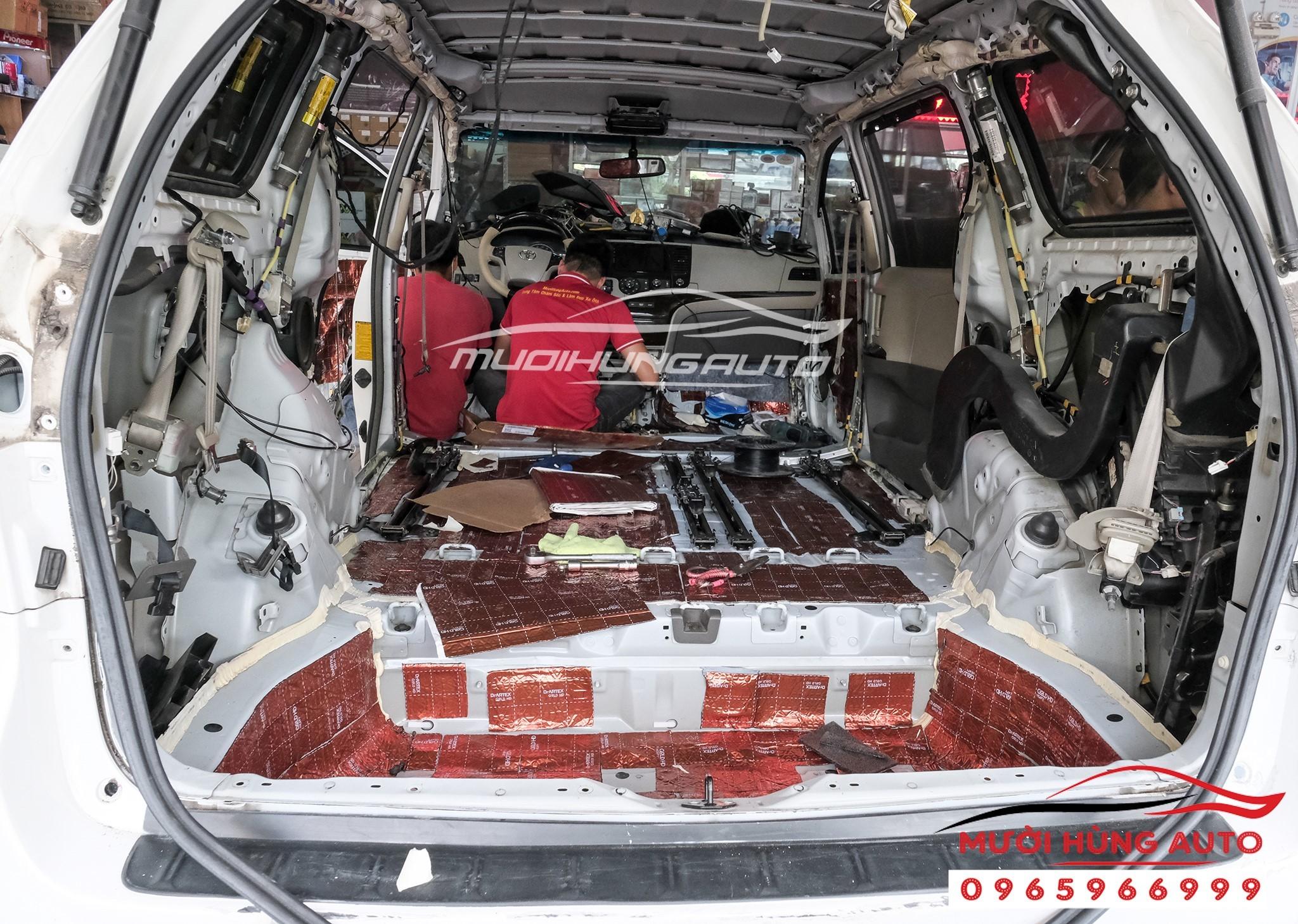 Vật liệu cách âm chống ồn cho xe Toyota Sienna