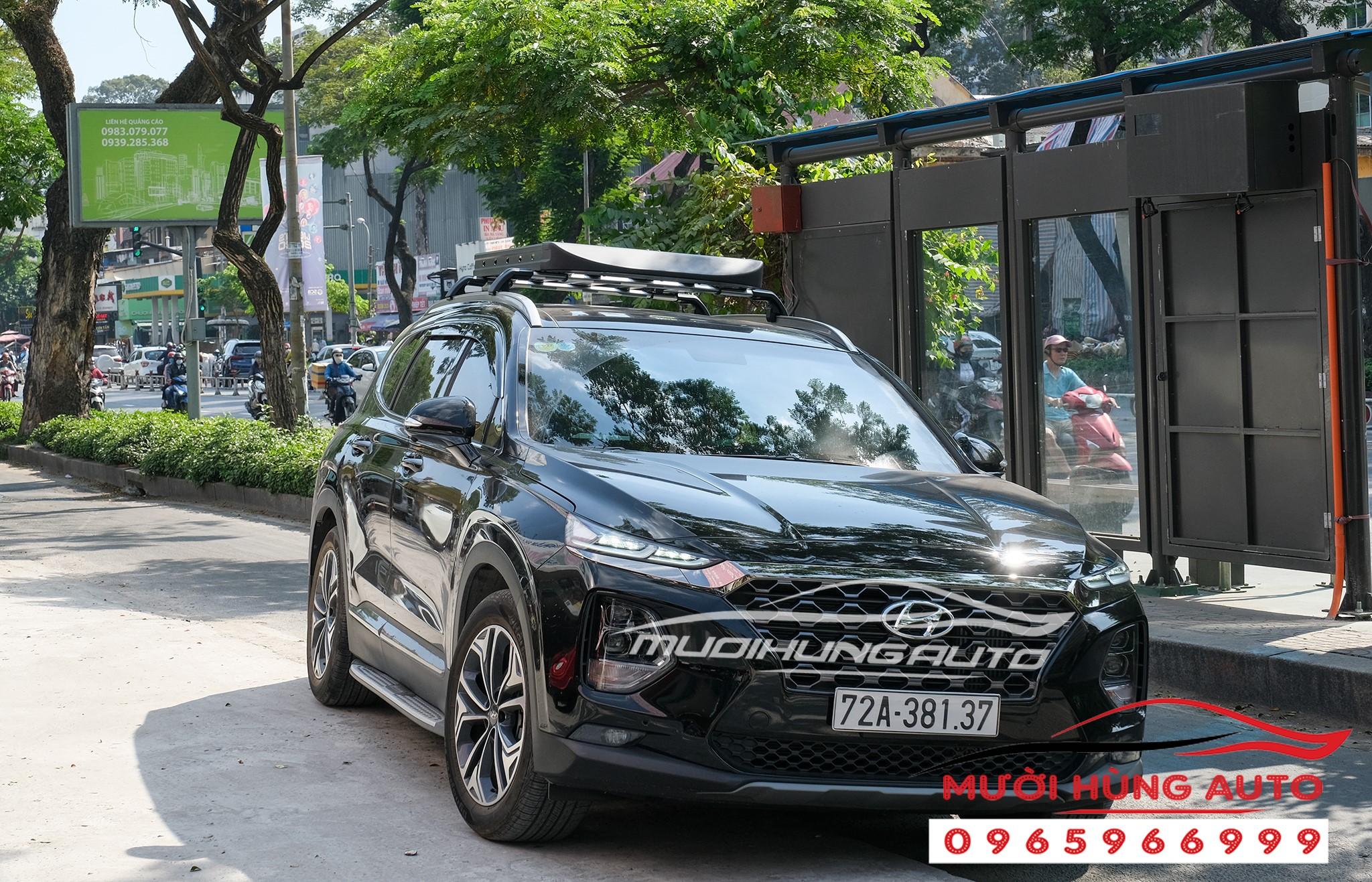 gắn Baga vuông zin theo xe Hyundai Santafe 2019-2020